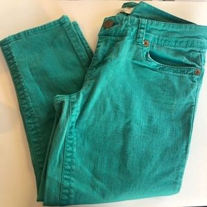 Seven7 Teal Crop Jeans Size 12
